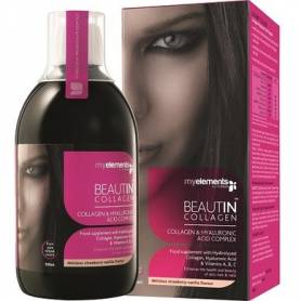BEAUTIN COLLAGEN LICHID 500ml - aroma de capsuni si vanilie - My Elements - ISOPLUS