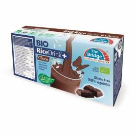Lapte vegetal de orez cu ciocolata 3x200ml ECO-BIO - The Bridge