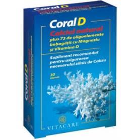 Coral D 30cps - calciu organic - Vitacare