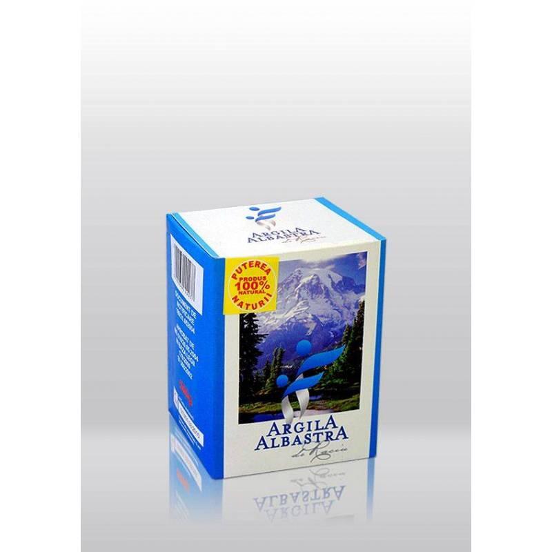 Argila albastra de Raciu - pulbere 500g - ARGILA ALBASTRA - ROMCOS