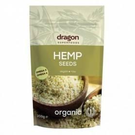 Seminte de canepa 200g decorticate eco-bio Dragon Superfoods