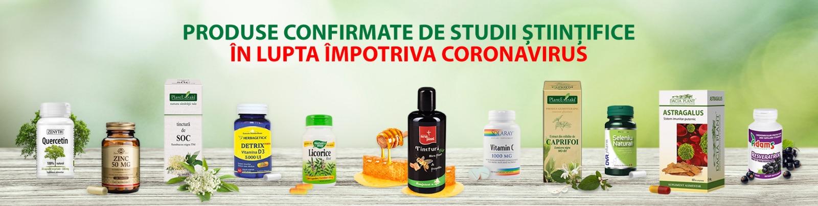 Produse confirmate de studii stiintifice impotriva CORONAVIRUS